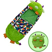 NUFR-Happy Kids Nappers Sleeping Bag,Portable Foldable Two-in-One Sleeping Bag with Pillow, All Season Cartoon Animal…