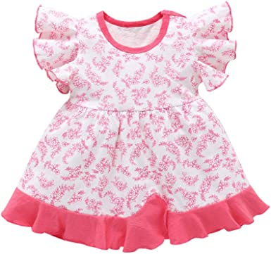 Toddler Baby Girl Kids Clothes Short Sleeve Tutu Princess Dress 2Y-6Y V2