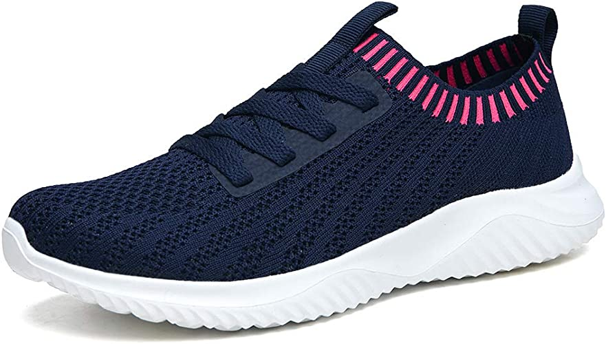 poemlady Women's Mesh Walking Shoes