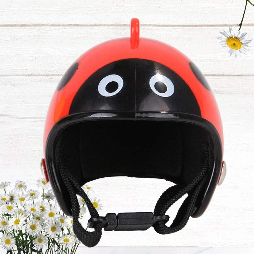 Chicken Toys Funny Protective Helmet For Chicken POPETPOP Black Chicken Helmet 4.5x4cm//1.77x157in Chicken Hat Cap