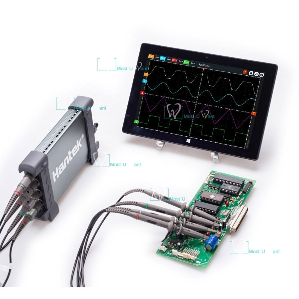 Hantek Automotive diagnostica attrezzature USB PC basato oscilloscopio 4/CH 250/MHz 1/GSa//s bit 64/K
