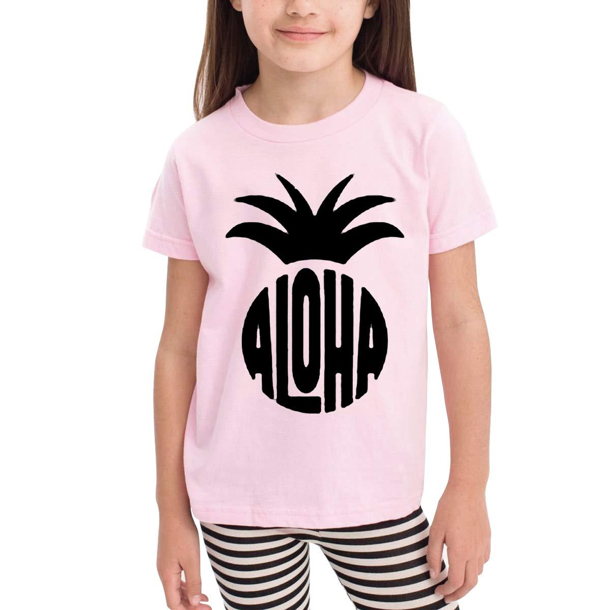 Aloha Pineapple 100/% Organic Cotton Toddler Baby Boys Girls Kids Short Sleeve T Shirt Top Tee Clothes 2-6 T
