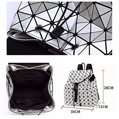 voyage Femme sacoche géométrique MSZYZ Sac Lingge Sac de à à dos dos Laser Holiday sac marron bandoulière Gifts à wqXCw6vR