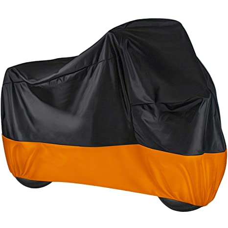 104 inch Motorcycle Vehicle Cover Classic Color Favoto Motorcycle Cover All Season Universal Premium Quality 190T Waterproof Sun Outdoor Protection Durable with Storage Bag Windproof Buckle Fits up to 265cm