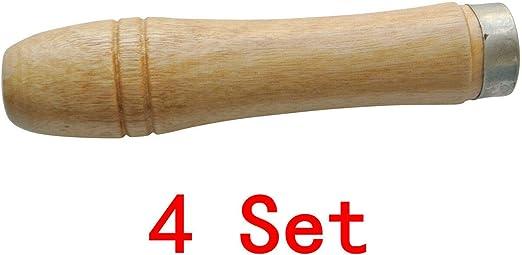 """4Pcs  Wooden File Handle Fit File Tool  4/"""" Hardwood DIY"""