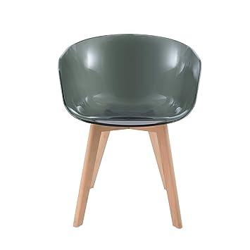 mac andrews spirit_t_blk fauteuil style scandinave transparent mac andrews avec pieds en bois de htre spirit - Fauteuil Scandinave Transparent