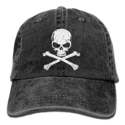 NVJUI JUFOPL Crossbone Skull Head Men Baseball Caps Adjustable Hats Black