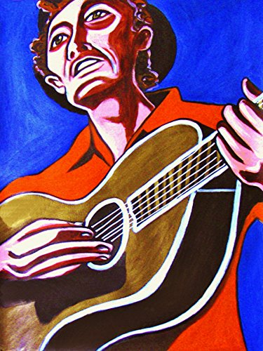 Woody Guthrie Print Poster man cave art guitar acoustic cd lp record album American