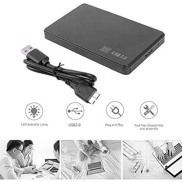 Ajcoflt Adaptador de Caja SSD HDD Sata de 2.5 Pulgadas a USB 3.0 ...