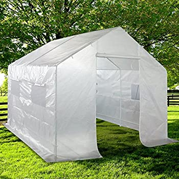 Quictent 2 Doors Portable Greenhouse Large Green Garden Hot House Grow Tent More Size (10 : house tent - memphite.com