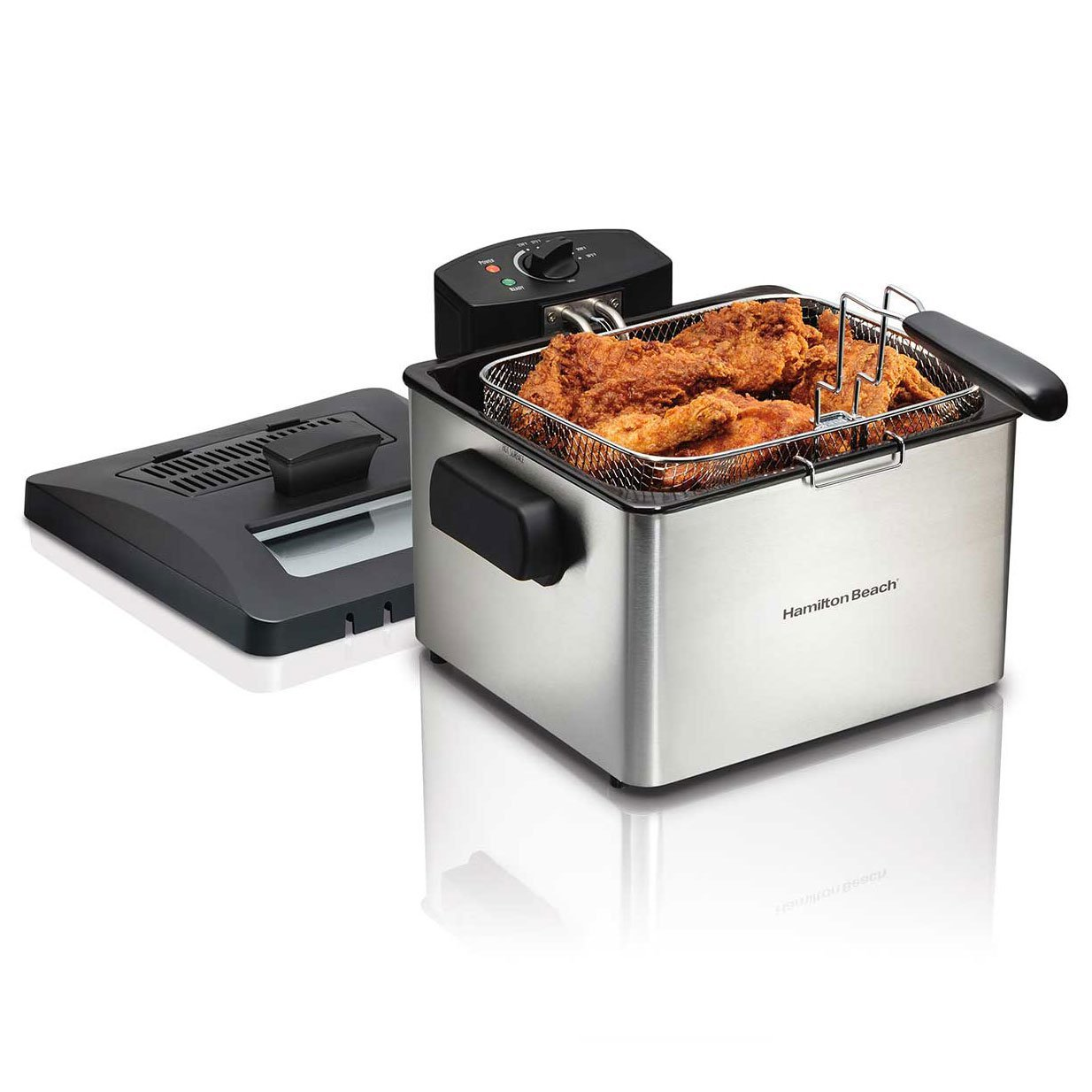 Hamilton Beach 35042 Professional Home 21 Cup 1 Basket Electric Deep Fat Fryer