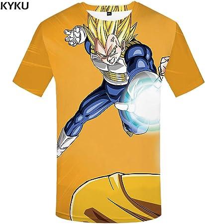 KYKU Marca Dragon Ball ZT Camisa Goku Camiseta Verde Pelo ...