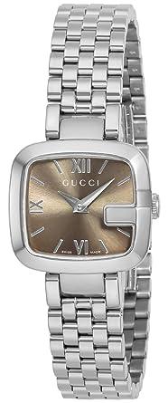 c515e1c483b5 Amazon | [グッチ]GUCCI 腕時計 Gグッチ ブラウン文字盤 YA125516-N ...