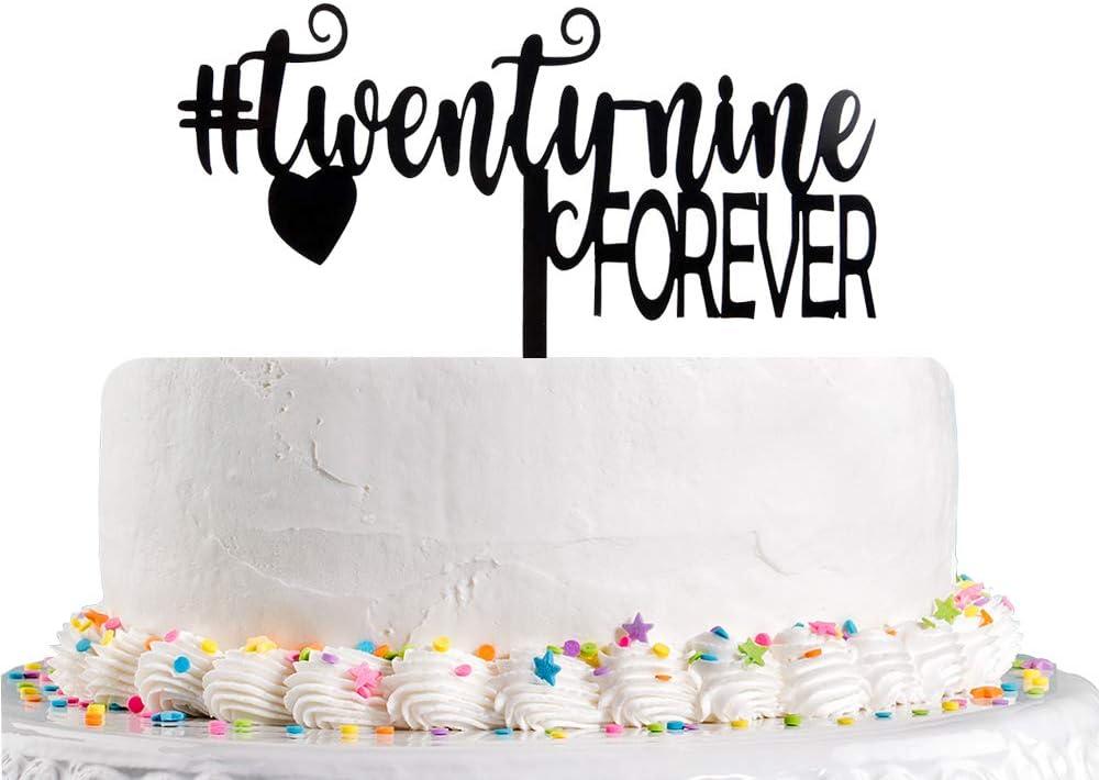 Amazing Amazon Com Twenty Nine Forever Cake Topper For 29Th Birthday Personalised Birthday Cards Akebfashionlily Jamesorg