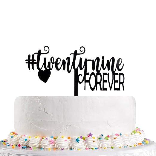 Decoración para tarta de 29 cumpleaños, diseño con texto en ...