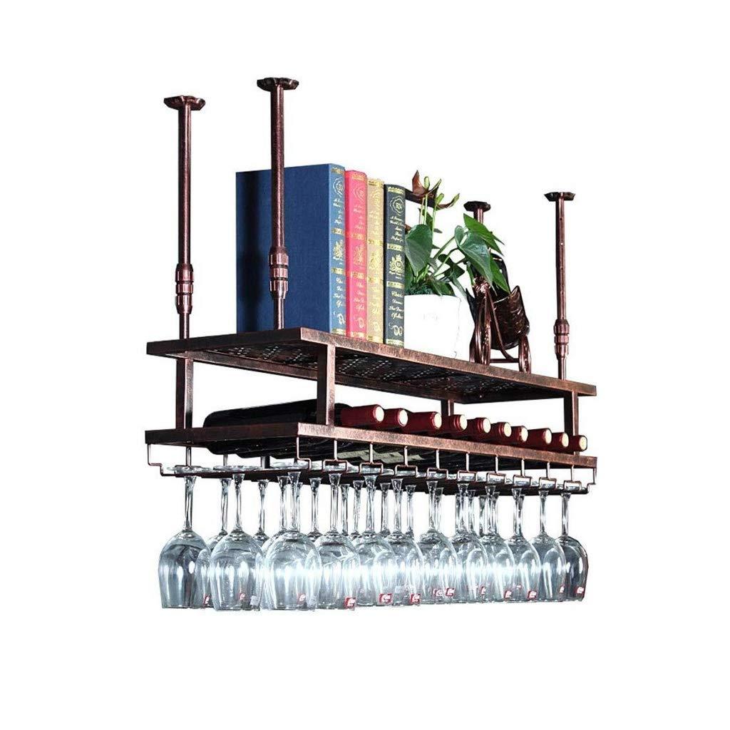 Portabottiglie Cucina A Parete Bottiglia Decorativi Del Soffitto Della Barra Cremagliera Del Vino//Ristorante//Cucina Vino Appeso Rack Di Stoccaggio Bicchiere Di Vino Cremagliera
