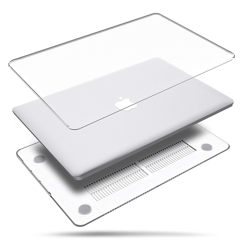 BELK Funda para MacBook Air de 13 Pulgadas 2018, 3 en 1 Cubierta de plástico Duro, Transparente y Ultra cristalina con Cubierta de Teclado y Protector de ...