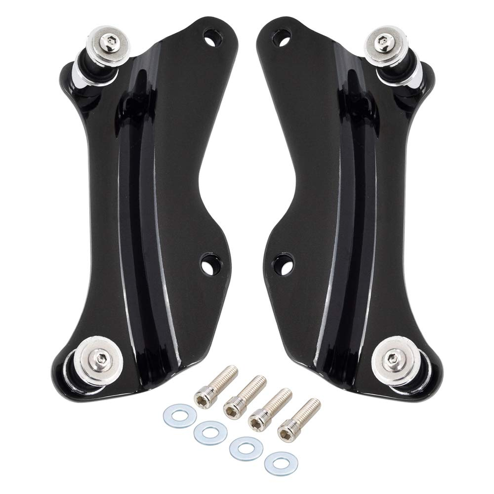 Amazicha Vivid Black 4 Point Docking Hardware Kit for Harley Touring Road King Road Glide Street Glide 2014-2018