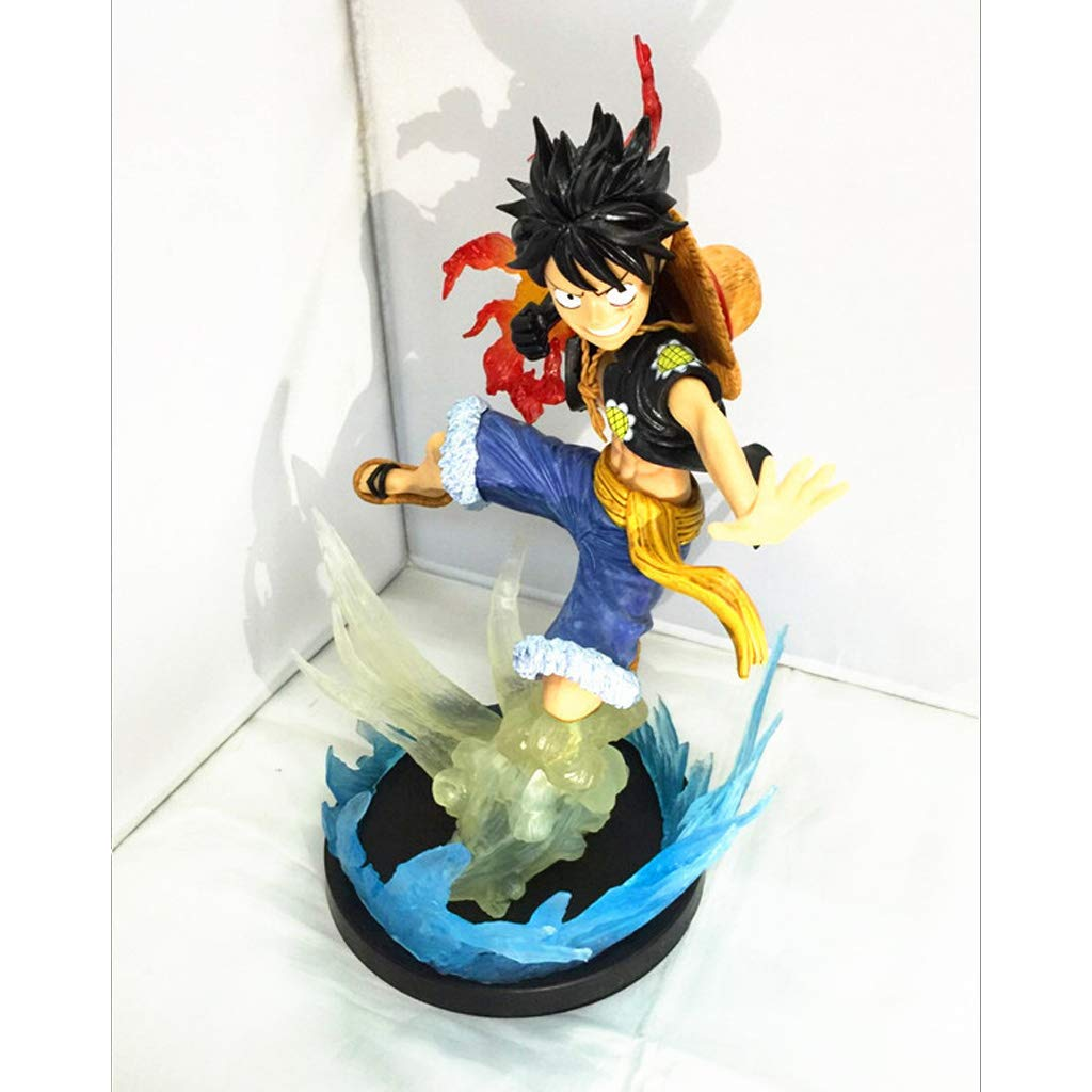 HBJP Toy Statue One Piece Toy Model Cartoon Character Decoration Collectibles Crafts Fighting Edition Rufy 24CM Modello di Anime (colore   Nero)