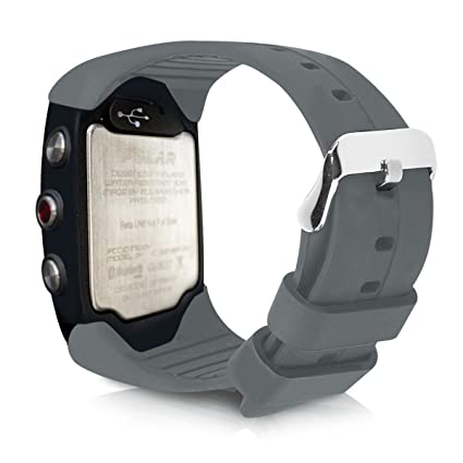 kwmobile Pulsera para Polar M400 / M430 - Brazalete de Silicona en Antracita sin Fitness Tracker