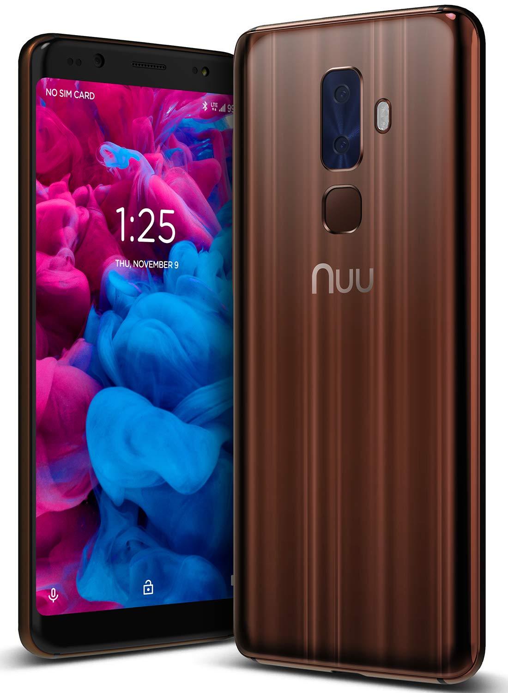 NUU Mobile G3 64GB/4GB RAM - Unlocked Cell Phone - Dual-SIM - 13MP + 5MP Rear Camera 13MP Front Selfie Camera - U.S. Warranty – Tiger's Eye Brown