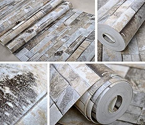 In finta pietra parete di mattoni 3D Wallpaper roll moderno parete ...