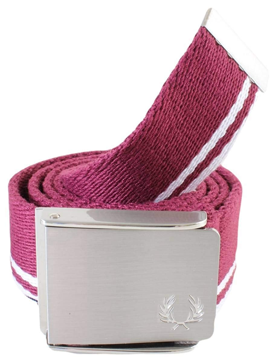 Fred Perry Twin Tipped Hombre Belt Granate: Amazon.es: Ropa y ...