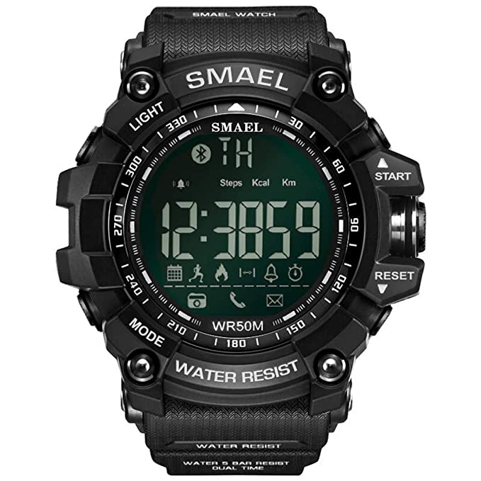 SMAEL Digital Watch Sports Watch Military Watch with Waterproof Function and Alarm Clock,for Men