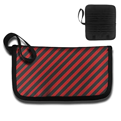 Red And Black Stripes Multi-function Travel Document Receipt And Receipt Bag Fashion Printing Card Package