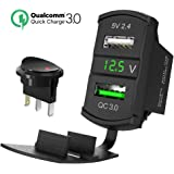 quick charge 3 0 usb auto steckdose kfz ladeger t amazon. Black Bedroom Furniture Sets. Home Design Ideas