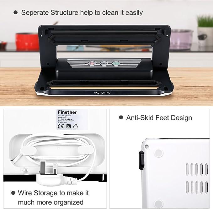 Finether-Mini Deshumidificador Digital Portátil, Secadora ...