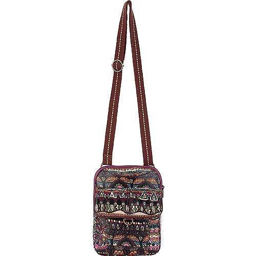 The Sak Womens Artist Circle SM Flap Messenger Bag 9c97532bf3b0d