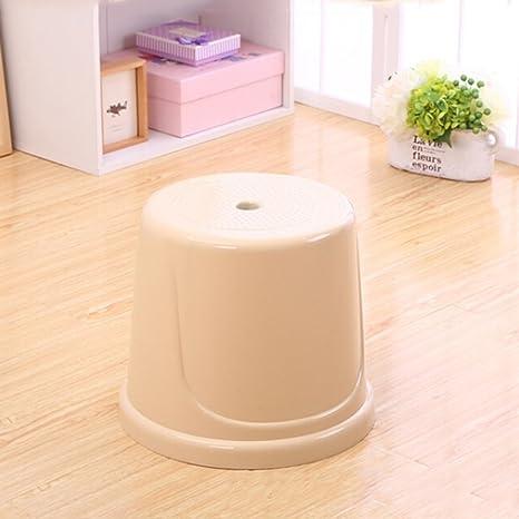 Amazon.com: Nordic Style Plastic Round Stool, Living Room ...