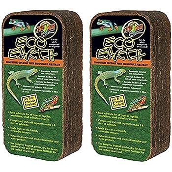 Amazon Com 2 Pack Zoo Med Eco Earth Bricks Pet Supplies