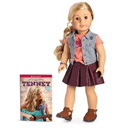 amazon com american girl tenney grant doll and book toys games