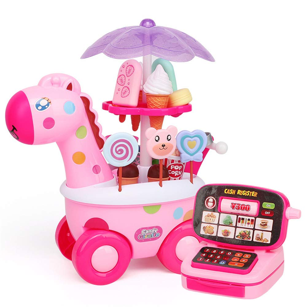 Children Early Education Toy Children Play Ice Cream Car Toys Simulation Little Male Girl Trolley Sweets 3-6 Years Old Toy for Boys and Girls