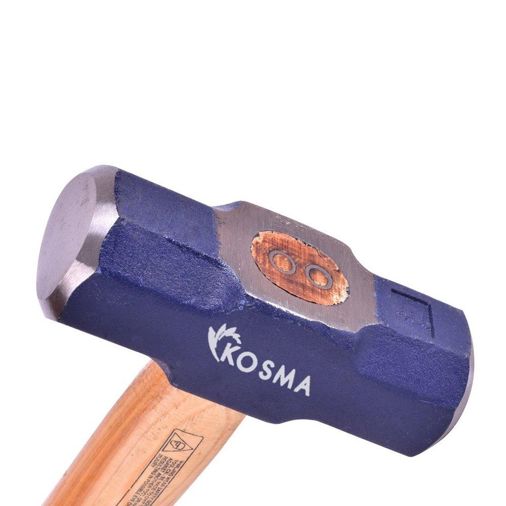 Kosma Sledge Hammer Double Face - 4 Lb with Hickory Wood Handle