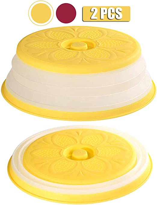 2PCS Tapa Plegable para microondas Juego de 2 Cubiertas de ...