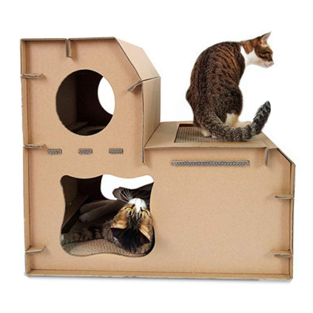 Meng pet Thicken Environmentally Friendly Corrugated Cat House Cat Supplies, Cat Scratch Board, Cat Toys, Pet Cave, Pet Furniture, Catnip Toys,pet beds