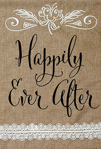 """ Happily Ever After "" - Wedding or Anniversary - Garden Siz"