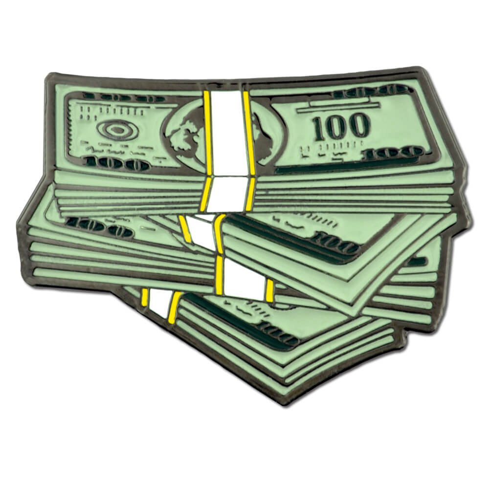 PinMart's Stack of $100 Dollar Bills Money Trendy Enamel Lapel Pin