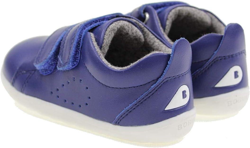 Bobux Step Up Grass Court Waterproof Bleu Blueberry Coated Cuir Bambin Mode Chaussures