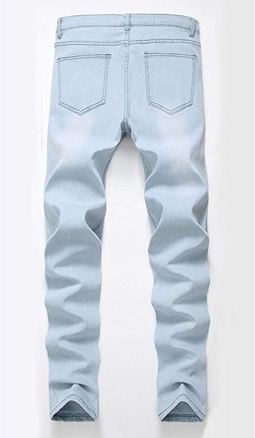 OBT Boys Slim Fit Skinny Ripped Distressed Fashion Jeans Pants with Holes