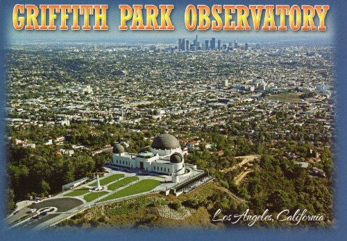 T-825 GRIFFITH PARK OBSERVATORY POSTCARD .. from Hibiscus Express