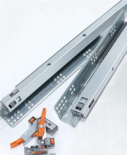 Astonishing Decobasics 18 Undermount Drawer Slides 4 Pair Full Complete Home Design Collection Epsylindsey Bellcom