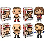WWE Set of 4 Funko Pop! Vinyl Figures - Finn Balor, AJ Styles, Goldberg & Mick Foley