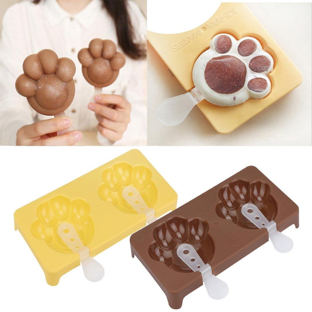 Vibola Cat Claw Sakura Cherry Flower Shape Popsicle Ice Cream Maker Molds Tray Taart Decoratie Cake Decorating Tools Cakecookie Mould random color