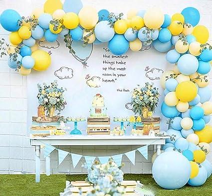 Amazon.com: Kit de arcos de globo de globos azules y ...