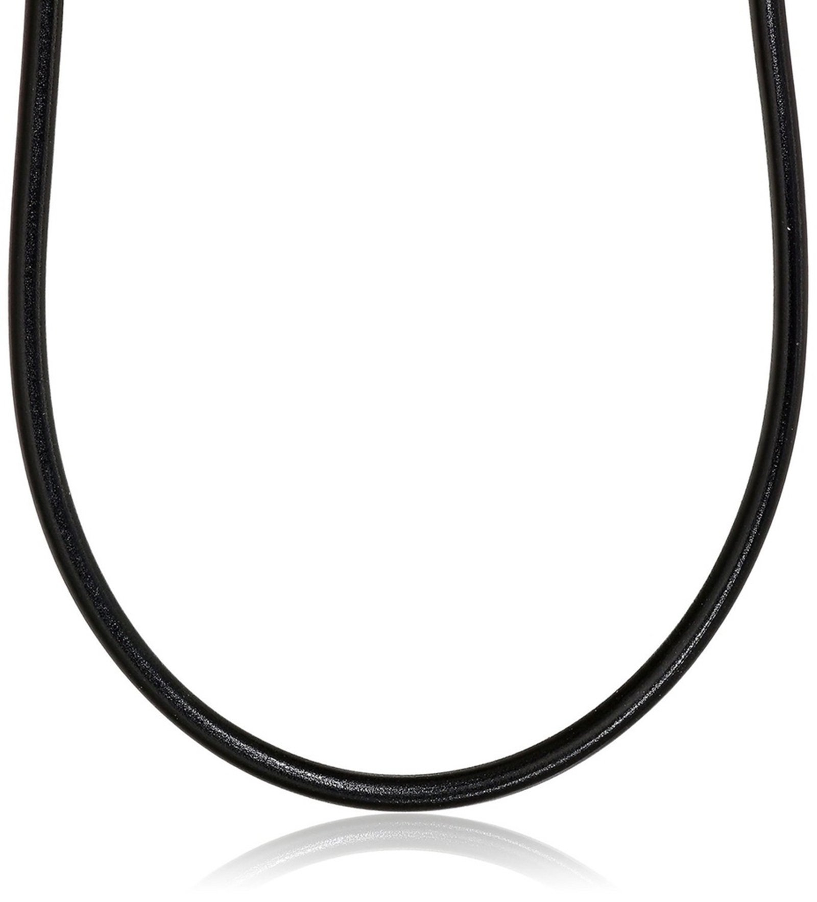 Aokarry Men's Stainless Steel Necklace Black Rope Necklace for Men Leather 4MM 18''