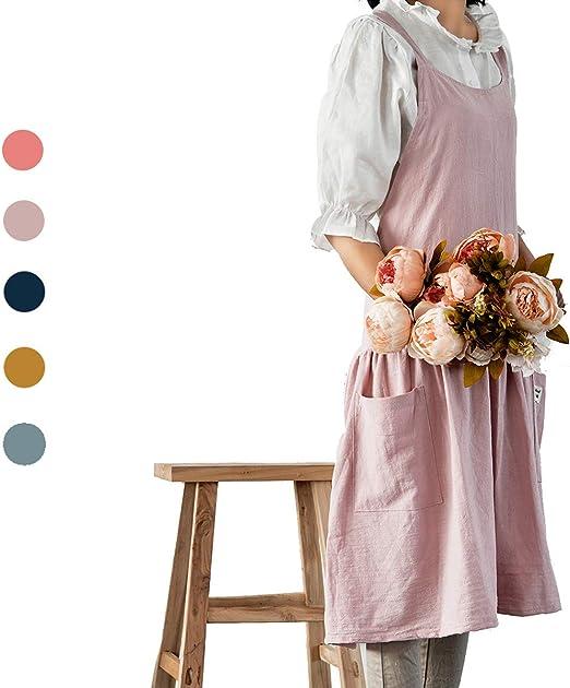 Vintage Mid-Century 50s Pink Black Floral Cotton Fabric for Apron Quilt /& Dress
